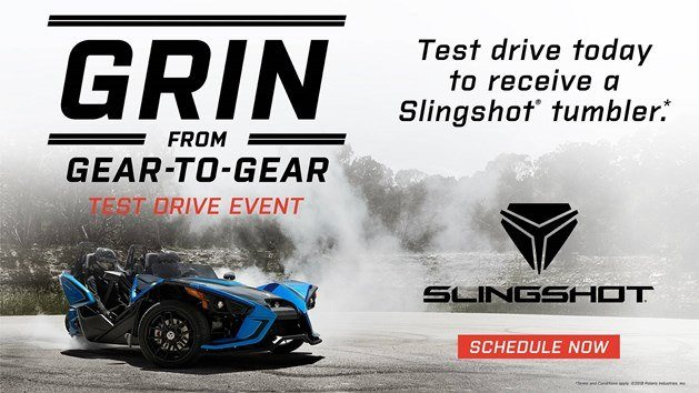 Slingshot Grin from Gear-to-Gear Test Drive Event